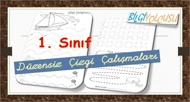1 Sinif Cizgi Calismalari Sayfalari Bilgiyolcusu